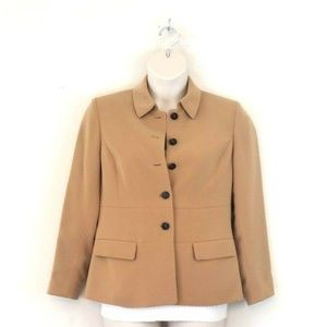 Kasper Camel Blazer/Jacket Sz. 10 Petite